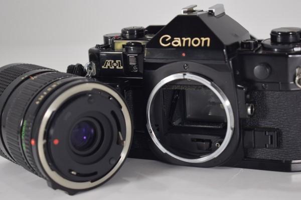 Canon キャノン A-1 一眼レフ カメラ レンズ FD 35-70mm 1:4 当時物 フィルムカメラ OT-324_画像5