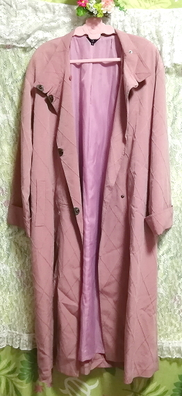 ピンクロングコート羽織/カーディガン Pink long coat/cardigan_画像4