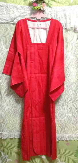 135cm赤紅色半天羽織/和服/着物 53.14 in red crimson/kimono_画像3