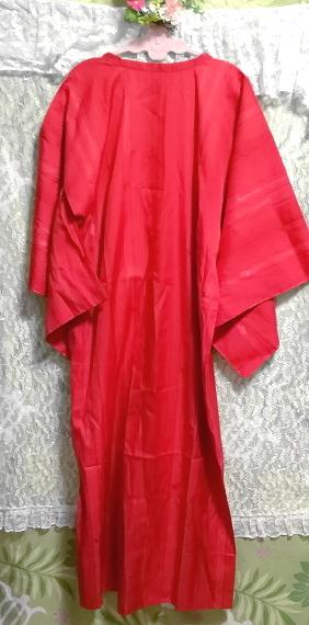 135cm赤紅色半天羽織/和服/着物 53.14 in red crimson/kimono_画像4