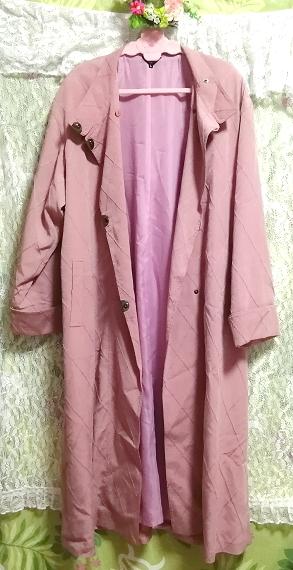 ピンクロングコート羽織/カーディガン Pink long coat/cardigan_画像1