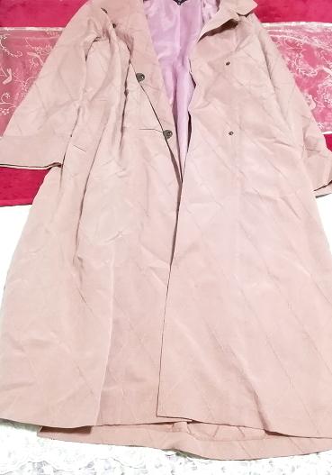 ピンクロングコート羽織/カーディガン Pink long coat/cardigan_画像6