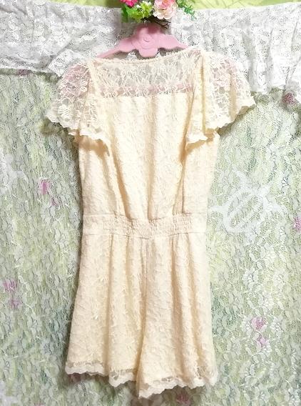 黄色レースキュロットワンピース/ネグリジェ Yellow lace culotte onepiece/negligee_画像4