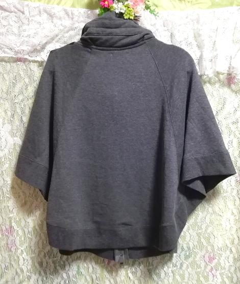 灰グレーポンチョ風カーディガンチュニック/トップス Gray poncho style cardigan tunic/tops_画像2
