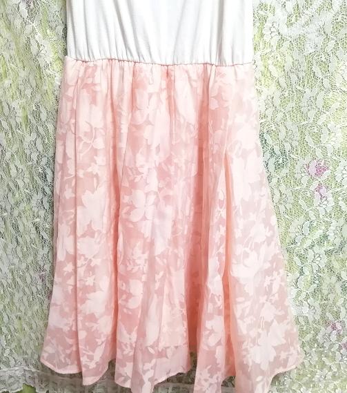 白ホワイトキャミソールトップスピンクロングスカート/ワンピース White camisole tops pink long skirt/onepiece_画像4