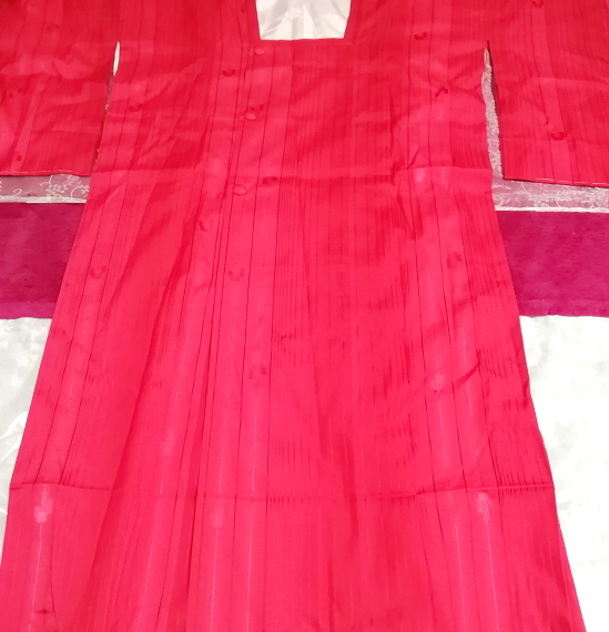 135cm赤紅色半天羽織/和服/着物 53.14 in red crimson/kimono_画像1