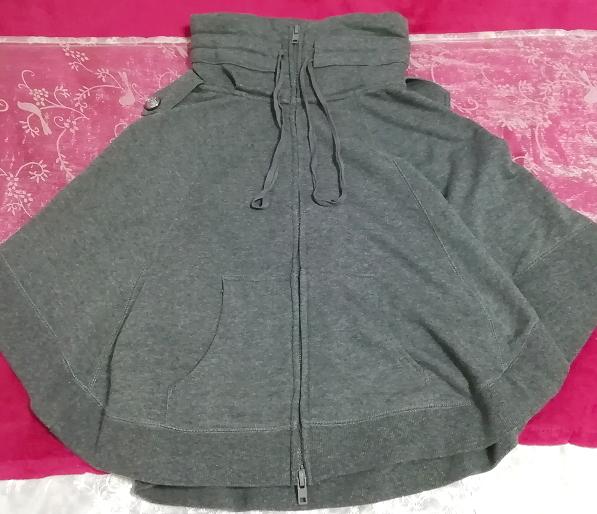 灰グレーポンチョ風カーディガンチュニック/トップス Gray poncho style cardigan tunic/tops_画像3