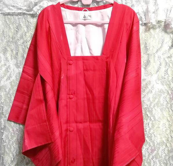 135cm赤紅色半天羽織/和服/着物 53.14 in red crimson/kimono_画像6