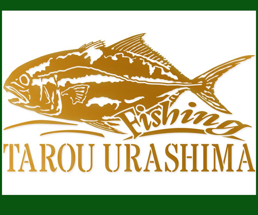 ●名入れ fishing 魚釣り デザインステッカー 金色または銀色選べる 550_画像1