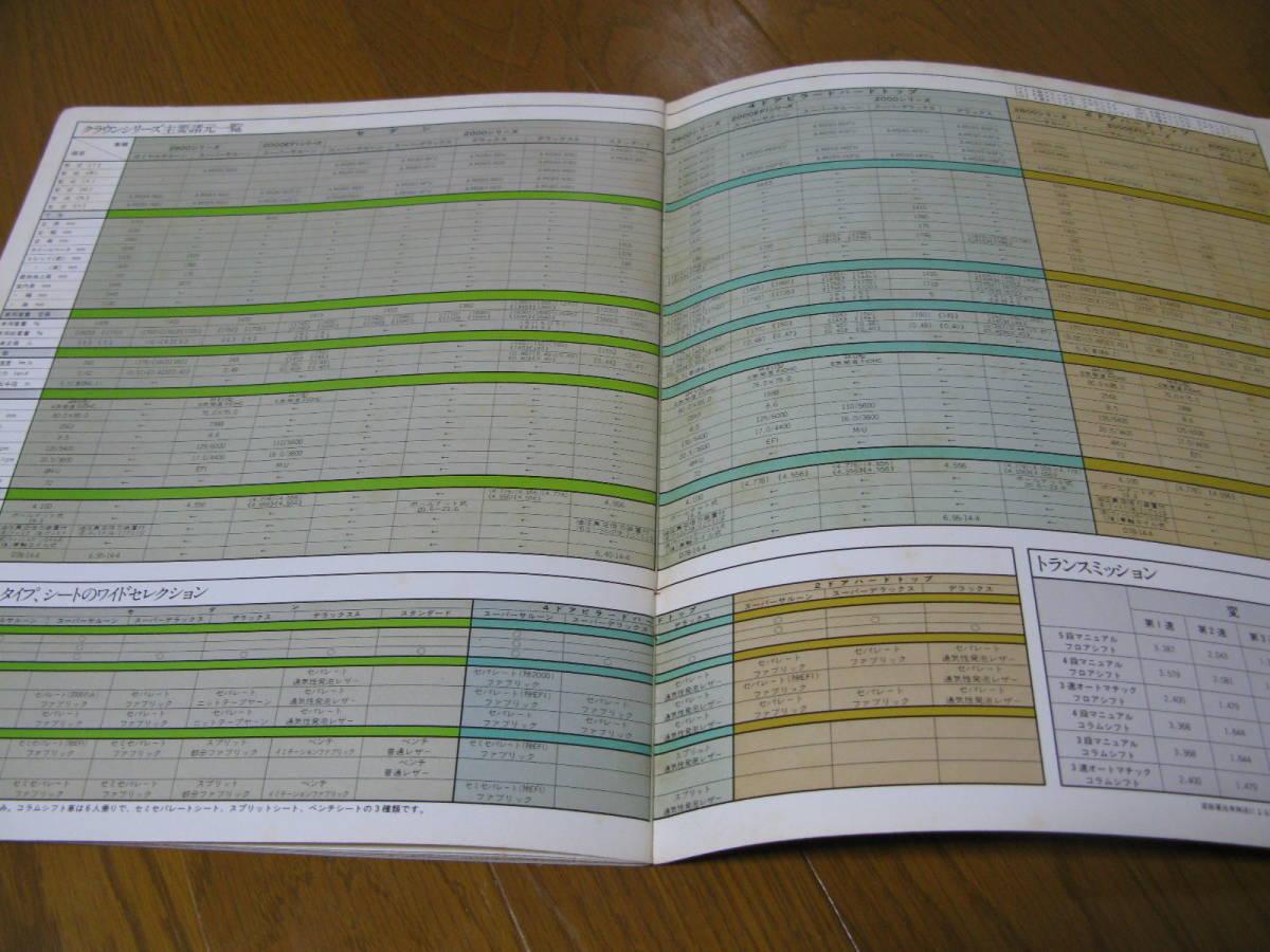 旧車カタログ 当時物 昭和 トヨタ クラウン MS80 MS90 系 ハードトップ セダン 全34ページ(裏表表紙含む) 中古 レア 個人保管品 送185円_画像8
