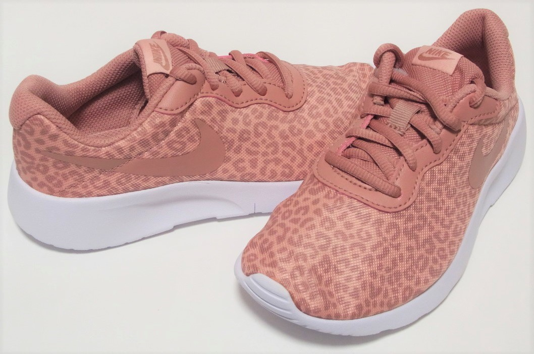 6f6bbe2dd4c9 NIKE TANJUN PRINT PS pink leopard print 21cm Nike tongue Jun print Junior  sneakers motion shoes Leopard 833669-600