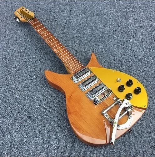 【送料無料】エレキギター リッケンバッカースタイル カエデ ブラウン スリーピックアップ 本体のみ 初心者