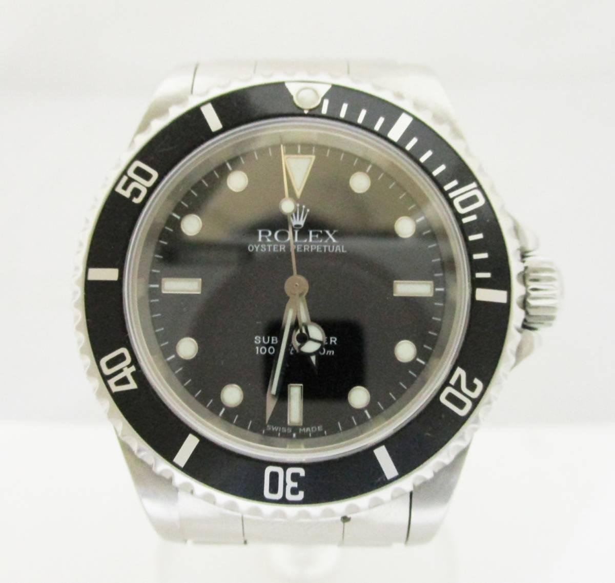 ★1円★ROLEX ロレックス サブマリーナ Ref14060 A番 メンズ腕時計 箱保・コマ付き 稼働品★A2110
