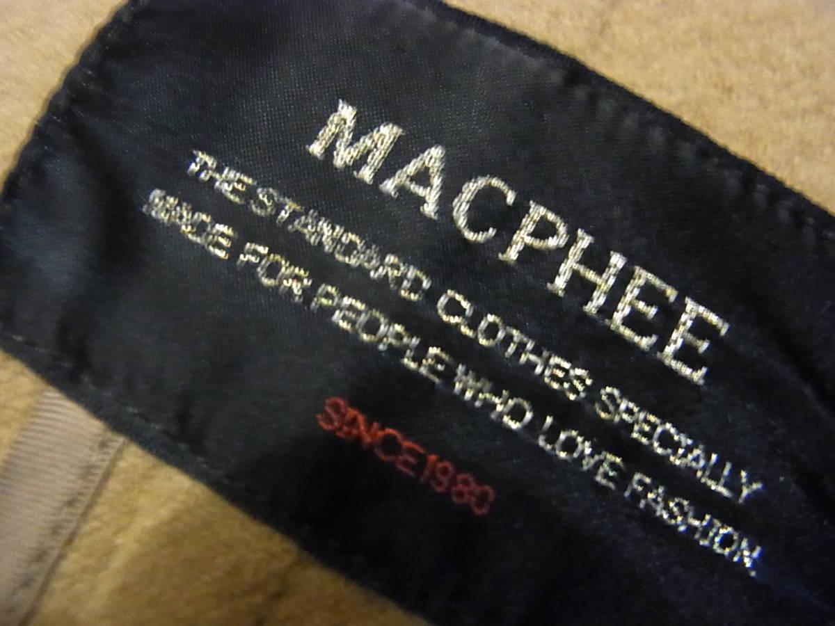 即決18/16 MACPHEEマカフィー TOMORROW LANDトゥモローランド 完売ダッフルウールコート36サイズ キャメル_画像4