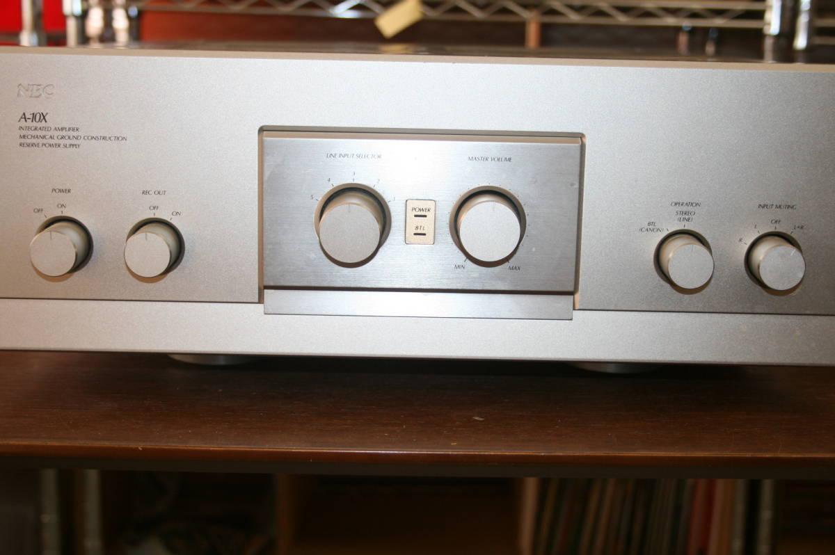 ジャンク NEC A-10X プリメインアンプ インテグレーテッドアンプ 音響 機材 オーディオ_画像2