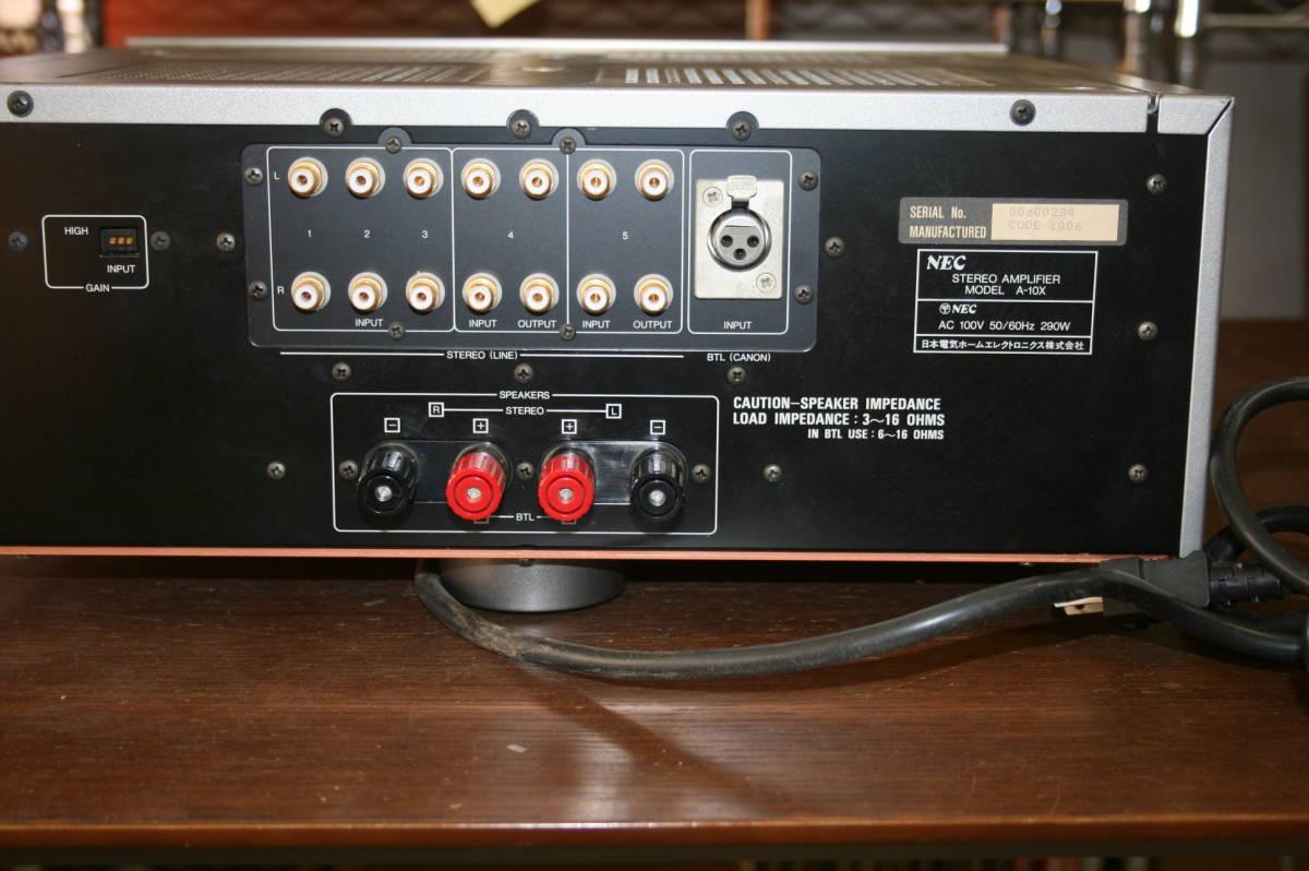 ジャンク NEC A-10X プリメインアンプ インテグレーテッドアンプ 音響 機材 オーディオ_画像3