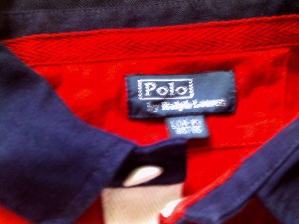 ポロラルフローレンビッグポニーラガーシャツ美品L(14-15) 160/80 製造 ラルフローレン(株)_画像3