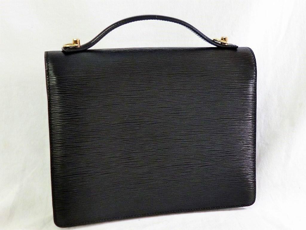 LOUIS VUITTON ルイヴィトン エピ モンソー M52122 ノワール ショルダーストラップ・保存袋付 2WAY ハンドバッグ ビジネスバッグ☆ZH10187_画像3