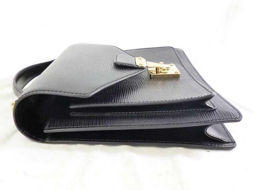 LOUIS VUITTON ルイヴィトン エピ モンソー M52122 ノワール ショルダーストラップ・保存袋付 2WAY ハンドバッグ ビジネスバッグ☆ZH10187_画像8