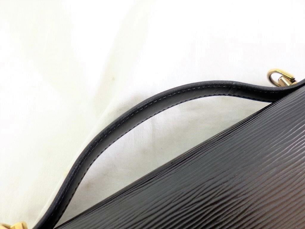 LOUIS VUITTON ルイヴィトン エピ モンソー M52122 ノワール ショルダーストラップ・保存袋付 2WAY ハンドバッグ ビジネスバッグ☆ZH10187_画像10