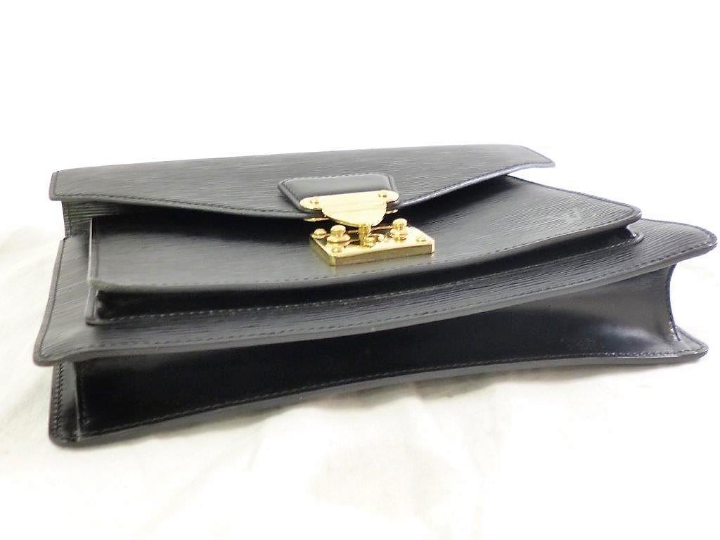 LOUIS VUITTON ルイヴィトン エピ モンソー M52122 ノワール ショルダーストラップ・保存袋付 2WAY ハンドバッグ ビジネスバッグ☆ZH10187_画像6