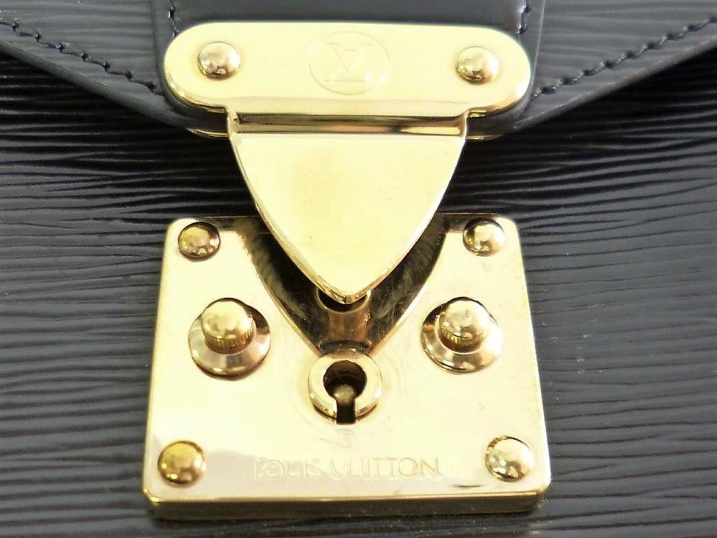 LOUIS VUITTON ルイヴィトン エピ モンソー M52122 ノワール ショルダーストラップ・保存袋付 2WAY ハンドバッグ ビジネスバッグ☆ZH10187_画像5