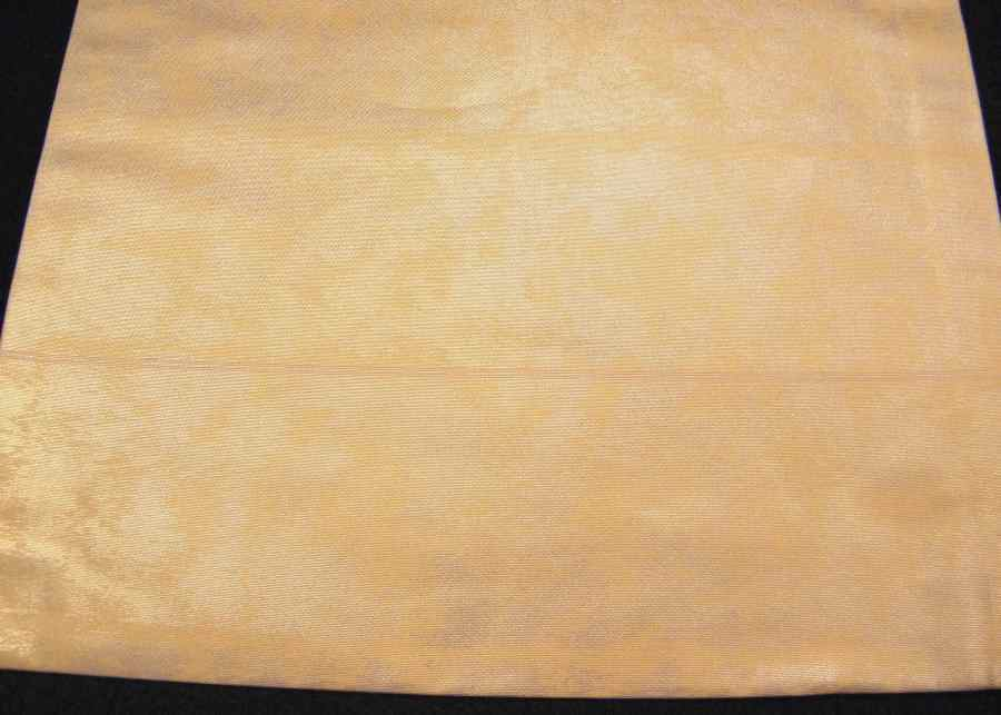 【帯喜楽】タ2-16●九寸名古屋帯●刺繍の段縞唐華文_画像3