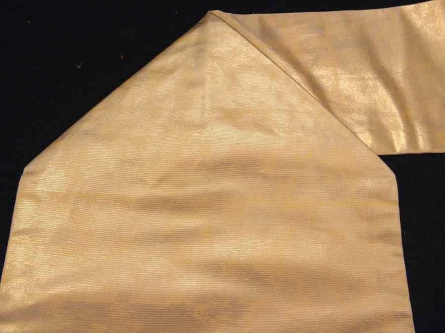 【帯喜楽】タ2-16●九寸名古屋帯●刺繍の段縞唐華文_画像7