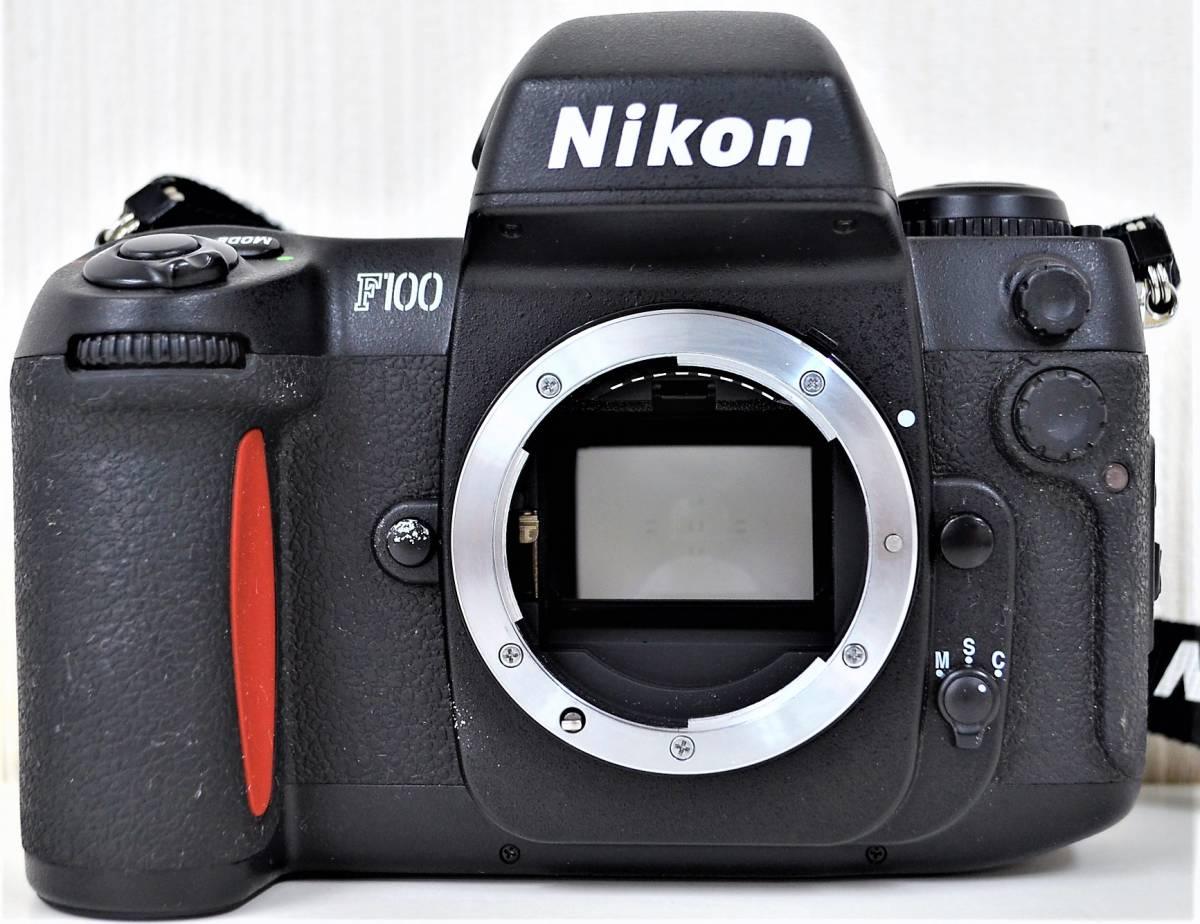 4★ ニコン Nikon F100 レンズ Nikon AF NIKKOR 28-105mm 1:3.5-4.5 D レンズフィルター Kenko 前部レンズキャップ ストラップ付き_画像2