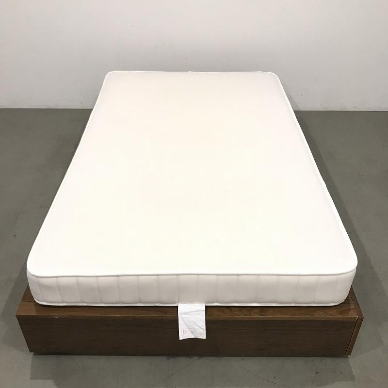 極美品 / 無印良品(MUJI) / ベッド / セミダブル / 高密度ポケットコイル / 収納フレーム