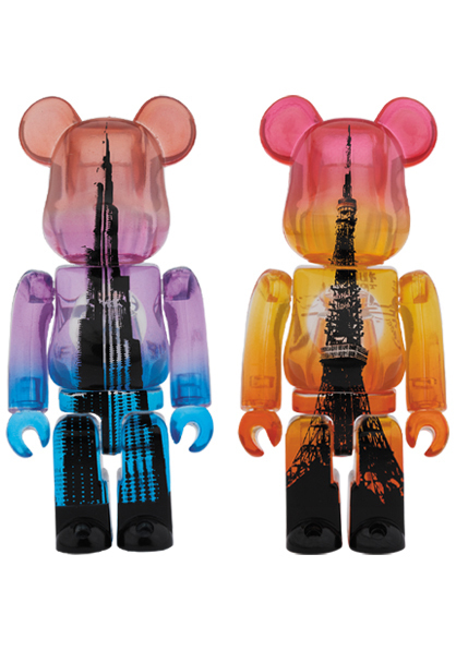 MEDICOM TOY BE@RBRICK BURJ KHALIFA TOKYO TOWER TWIN TOWER PACK 100% 東京タワー BE@RBRICK ベアブリック メディコムトイ