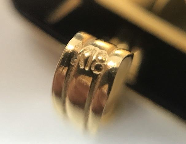 純金(K24) インゴット 6.1g K18 YG 枠 ペンダント_画像4