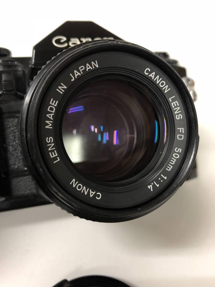 カメラ CANON A-1 ブラックボディ+FD 50mm F1.4 キャノン sf919_画像2