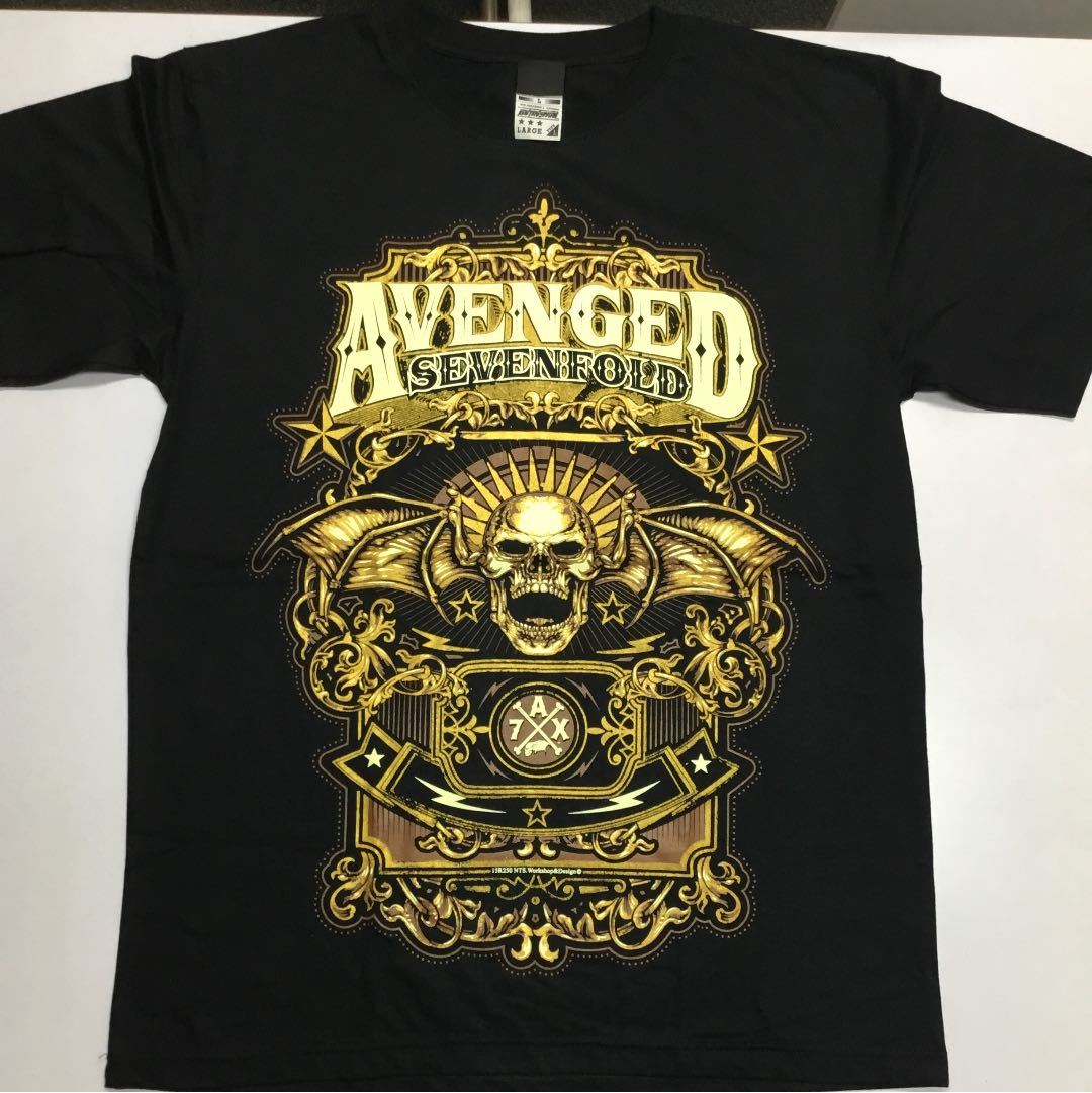 バンドデザイン半袖Tシャツ AVENGED SEVENFOLD Lサイズ アヴェンジドセヴンフォールド A7X SR3B2