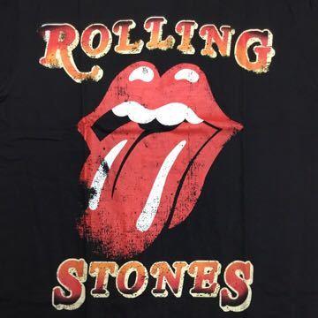 両面プリントバンドデザイン半袖Tシャツ ローリングストーンズ Lサイズ The Rolling Stones ② SR3B1