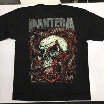 両面プリントバンドデザイン半袖Tシャツ パンテラ Lサイズ PANTERA ② SR3B1