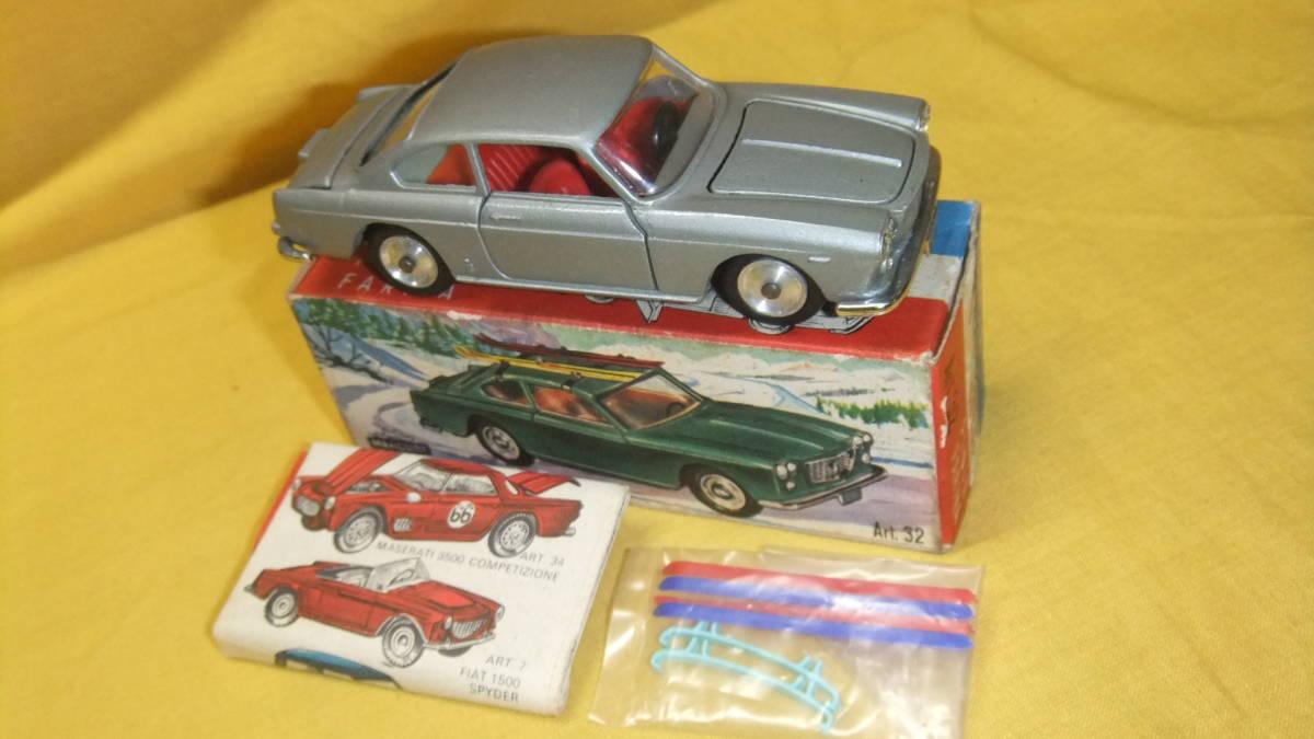 """美品 【外箱/カタログ/スキーセット付】 イタリア製・MERCURY No.32 Lancia Flavia Coupe・1962年製【""""MERCURY"""" 商標マーク刻印】"""