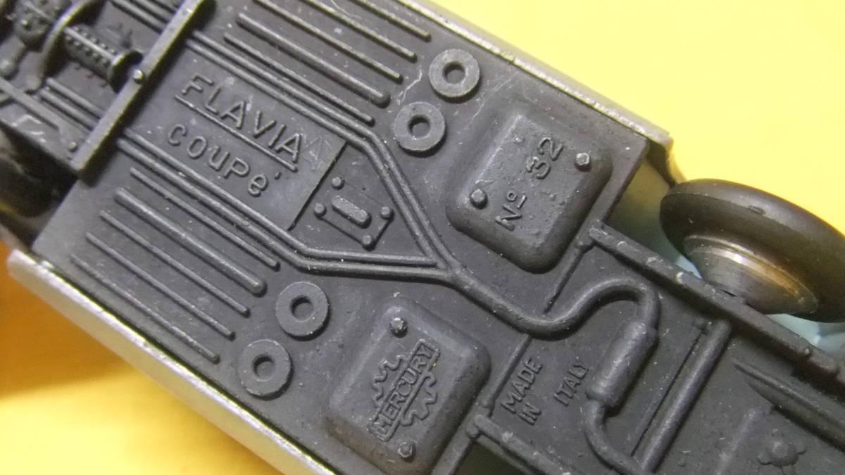 """美品 【外箱/カタログ/スキーセット付】 イタリア製・MERCURY No.32 Lancia Flavia Coupe・1962年製【""""MERCURY"""" 商標マーク刻印】 _画像6"""