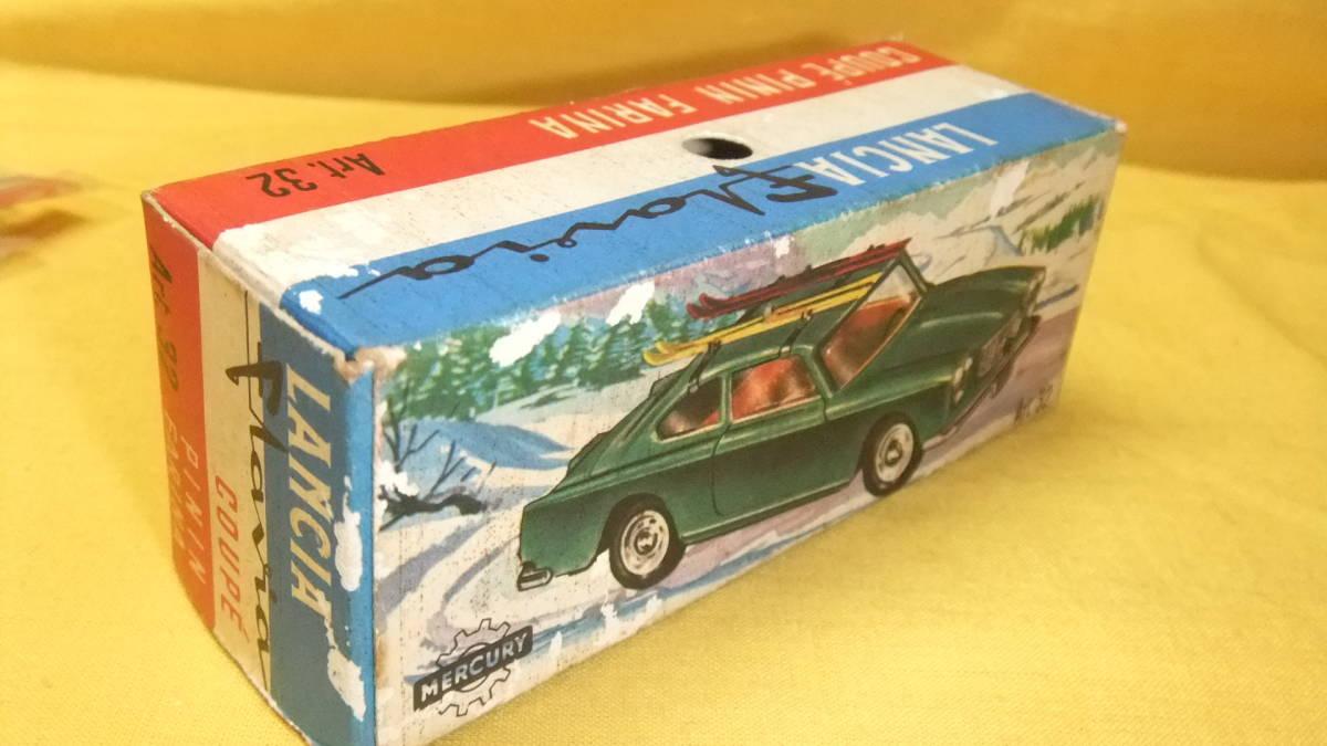 """美品 【外箱/カタログ/スキーセット付】 イタリア製・MERCURY No.32 Lancia Flavia Coupe・1962年製【""""MERCURY"""" 商標マーク刻印】 _画像8"""