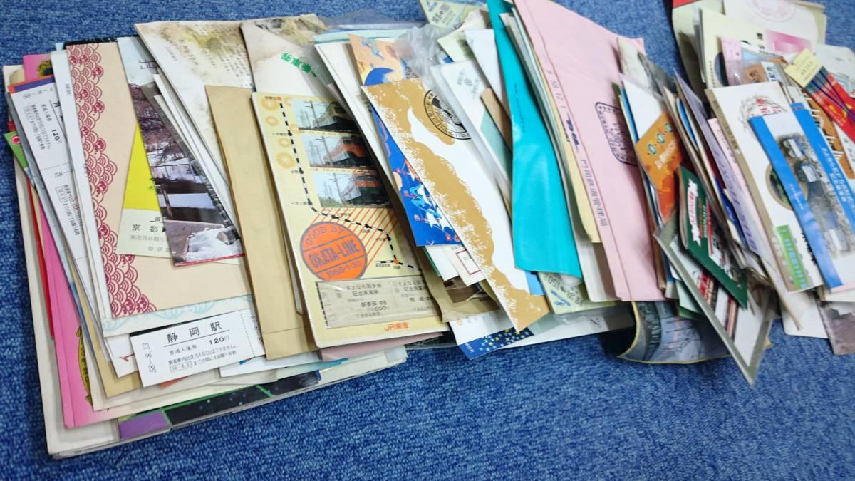 F243 鉄道 記念切符 入場券 乗車券 電車 昭和 まとめて 大量 3.3kg 1円スタート_画像8