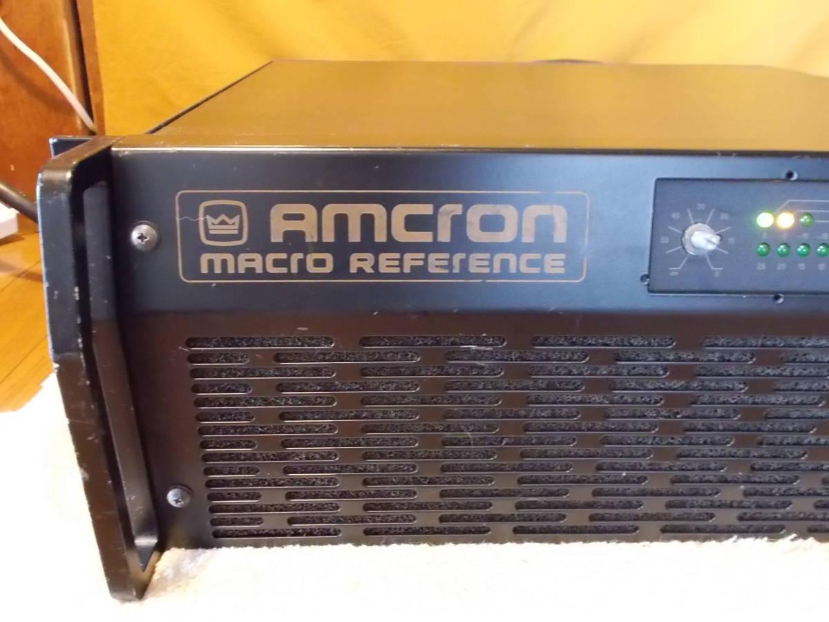 ◆◆◆定価67万 AMCRON MACRO REFERENCE クラウン アムクロン パワーアンプ ジャンク_画像2