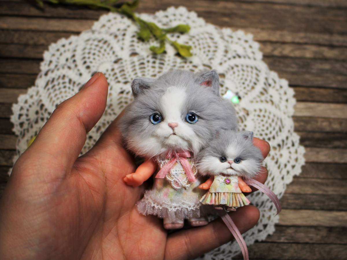 ★moloco dolls★キューピー猫ちゃん③小さい方_画像5