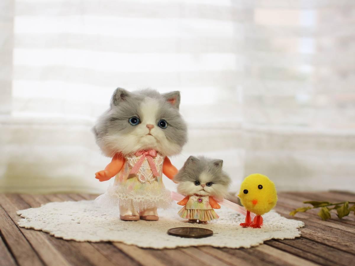 ★moloco dolls★キューピー猫ちゃん③小さい方_画像6
