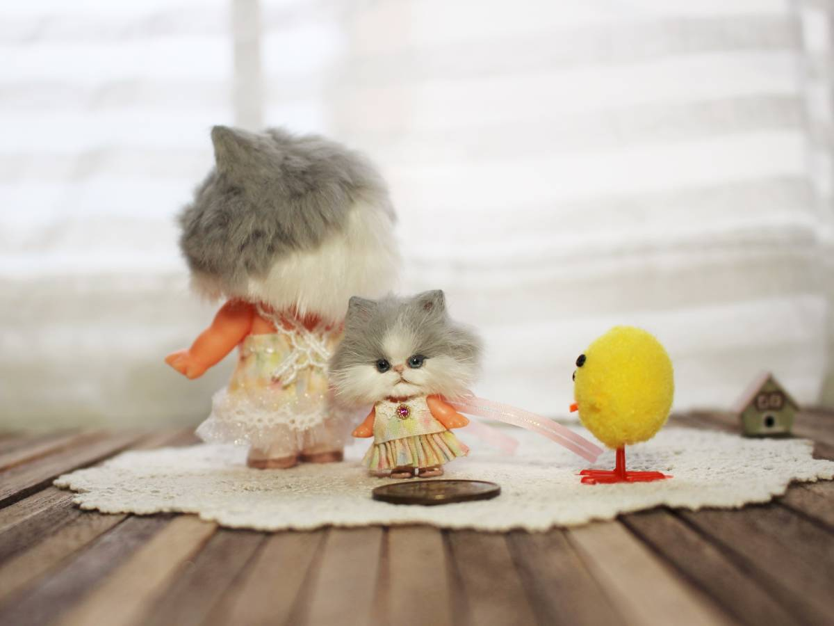 ★moloco dolls★キューピー猫ちゃん③小さい方_画像2
