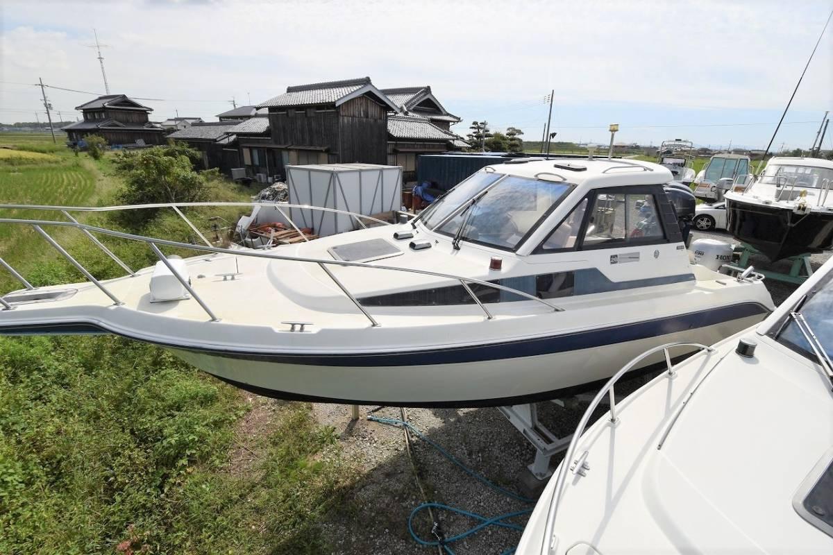 ☆★船屋.com 4st 130ps ホンダ船外機搭載☆★YAMAHA FR-24 オープンキャビン艇_画像2