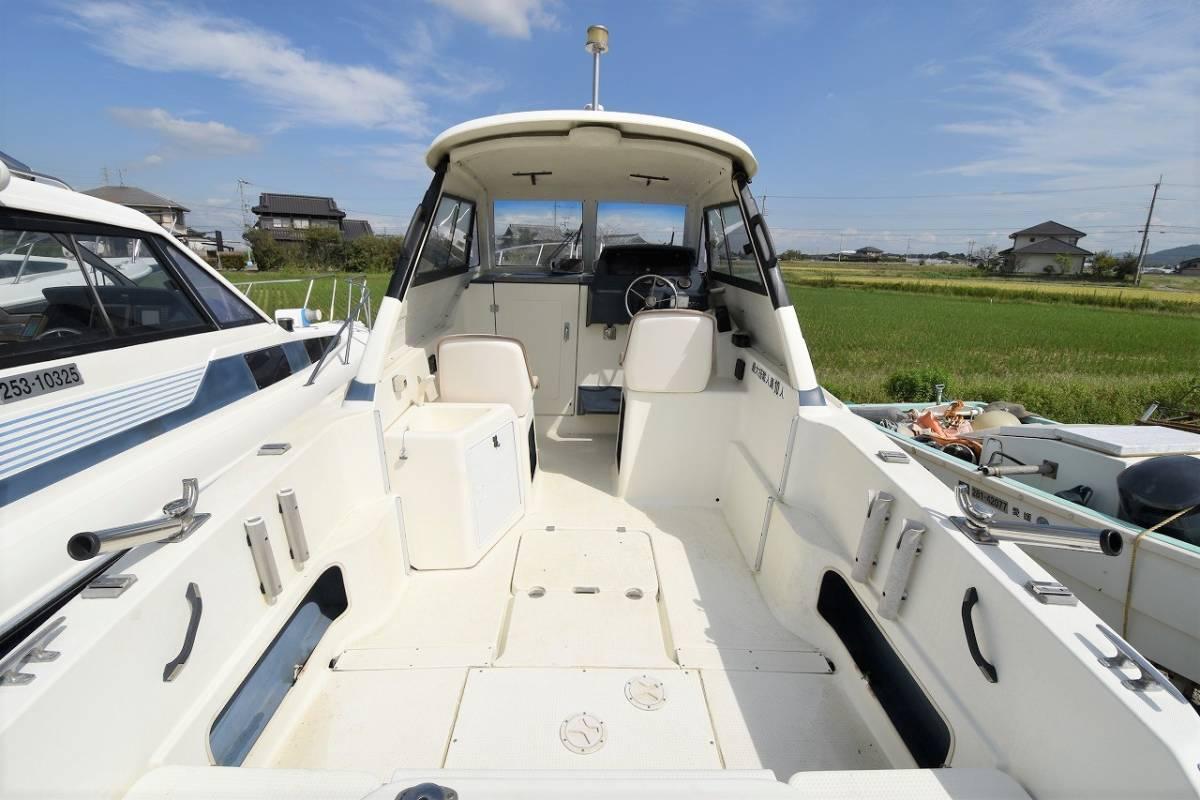 ☆★船屋.com 4st 130ps ホンダ船外機搭載☆★YAMAHA FR-24 オープンキャビン艇_画像4