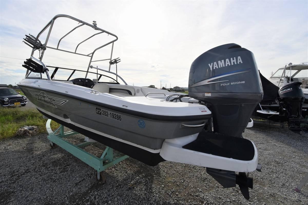 ☆★船屋.com 4st 150ps ヤマハ船外機搭載☆★YAMAHA AG-21 オーニング+サブシート新調_画像6