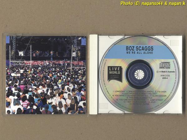 ★即決★ BOZ SCAGGS (ボズ・スキャッグス) /WE'RE ALL ALONE・LOWDOWN (LIVE WORLD) -- 70s AORの代表的なアーティストのライブ盤_画像3