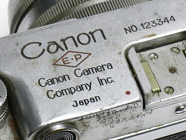 ☆キヤノン 4Sb 型 50mm/1.8 付、EP表記 /難有・現状_画像9