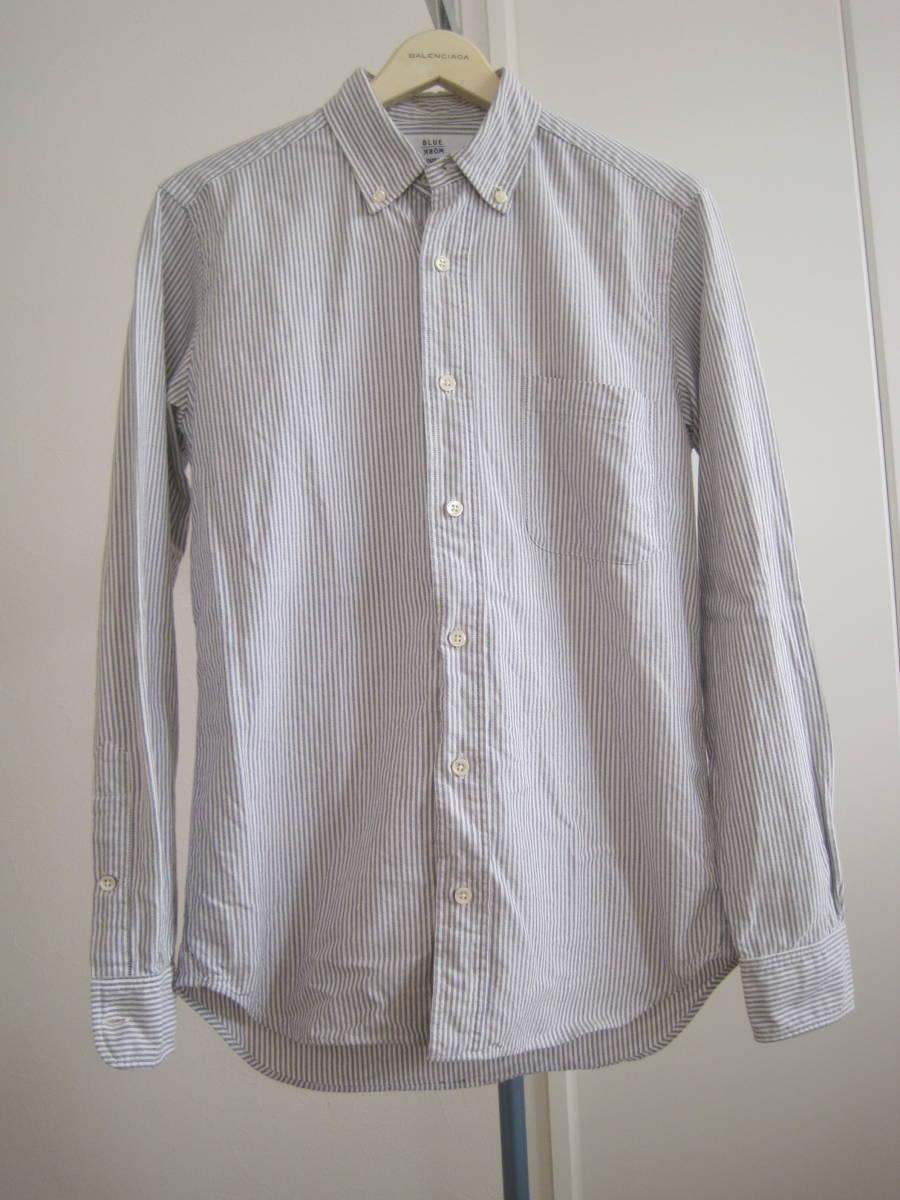 アメリカ製 ギャンバートカスタムシャツGambert Custom Shirt×Blue Workブルーワーク ボタンダウンシャツ S
